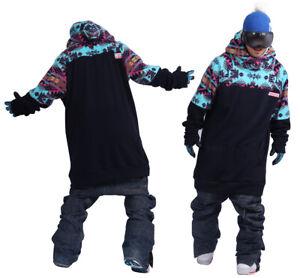 December long tall hoodie ski snowboard-Ga navy