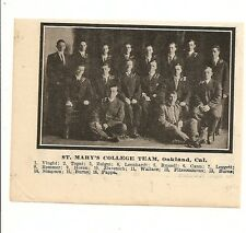 St. Mary's College CA 1912 Team Picture Baseball Gaels