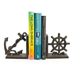 Danya B Nautical Iron Bookend Set - ZI08303