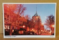 Champaign, Illinois at Night ~ Larry Kanfer Photographer ~ Postcard