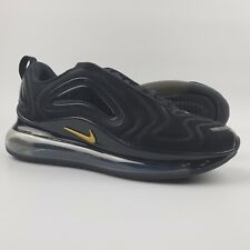 Nike Air Max 720 Running Shoes Women's Size 8 Black Metallic Gold CT2548-001