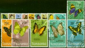 Tanzania 1973 Butterflies Set of 15 SG158-172 Fine Used