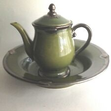 Vintage Ceramic Water Pitcher and Bowl Centerpiece Crafted International