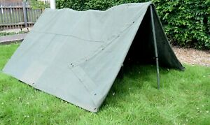 German Army Canvas Tent Heavy Duty Canvas Olive Teepee Pup Lavvu Shelter Half