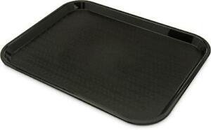 Carlisle Café Standard Cafeteria/Fast Food Tray, 14 x 18, Polypropylene, Black