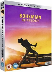 Bohemian Rhapsody (4k Ultra HD + Blu-ray) with Slipcover Rami Malek Queen