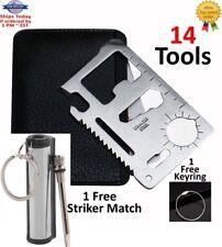 14 Lot 11 in 1 Multi Tool, wallet thin pocket survival credit card knife