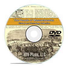 Massachusetts MA, People Family History & Genealogy 500 Books DVD CD B06