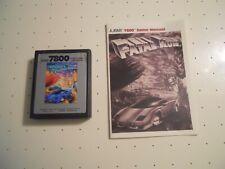 Fatal Run (Atari 7800, 1987) Game Cartidge with Manual - Tested and Working
