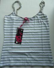 Womens Size 8 TG Striped Ladies Top Grey & White