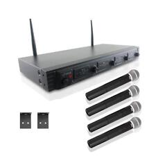 New PDWM4520 Wireless Microphone System UHF Quad Channel Fixed Frequency, 4 Mics