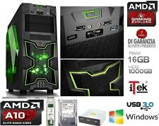 PC DESKTOP QUAD CORE A10  VGA RADEON RAM 16GB HD 1TB GAMING NINJA