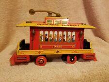 Vintage 1960's Tin litho Broadway Trolley Car battery op- Japan RARE