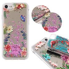 ^ FUN CASE 3D Mirror Spiegel Glitzer Schale Case Blumen 1 Für Apple iPhone 7 4,7