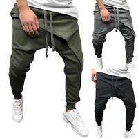 Men Gym Slim Fit Long Trousers Tracksuit Bottoms Skinny Joggers Activewear Pants