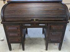 Antique Standard Furniture Co. Mahogany Roll Top Desk Lock & Keys Office Library