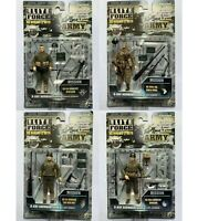 lot of 4 BBI ELITE FORCE WWII: D-DAY NORMANDY 1944 ARMY ACTION FIGURE 1:18 10cm