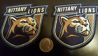 """(2) Penn State University Nittany lions embroidered iron on patch Lot  3"""" x 3"""""""