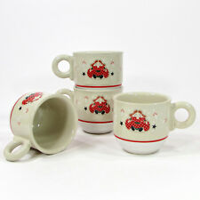 Noritake Epoch HOLIDAY JOY 10oz Mug Set 4Pc 8200 MIB Doll Christmas Vintage 1980