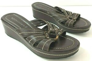 APOSTROPHE Sonya Sandals Womens 7M Brown Leather Upper