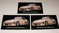 ★★3-1981 PORSCHE 930 S SLANT NOSE PHOTO MAGNETS 81 82 83 84 85 86 1982 1983 1986