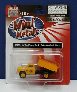 CMW Mini Metals 30525 1:87 HO 1960 Ford Dump Truck belvedere Public Works NIB