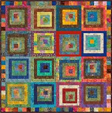 "LOVINA - Batik - 53"" - Pre-cut Quilt Kit by Quilt-Addicts Lap size"