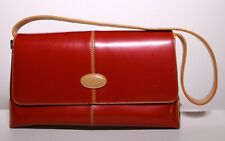 Tod's Red Patent Leather Handbag /  Purse - Magnetic Flap - USED