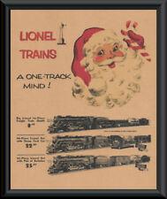 1940s Lionel Trains Xmas Ad Poster Reprint On Original Period Paper *P172