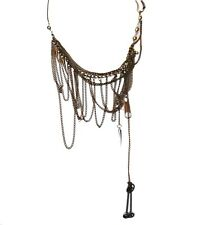 EVIL Clothing Poizen Punk/Goth STEAMPUNK NECKLACE Gift  BRASS/Copper