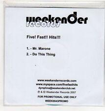 (EV690) Five! Fast!! Hits!!!, Mr. Marone - 2007 DJ CD