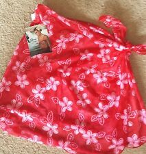$46 Leilani/Quiksilver Hibiscus Flower Syrong Bikini  Cover-Up NWT OS