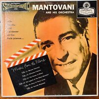 MANTOVANI AND HIS ORCHESTRA  MUSIC FROM THE FILMS  LONDON RECORDS PS 112