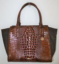 NWT Brahmin Pecan Harmonia Leather Large Petra II Satchel Shoulder Bag Purse