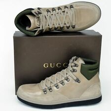 GUCCI New sz 9.5 G - US 10 Authentic High Top Designer Mens GG Sneakers Shoes