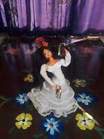 "Spanish Flamenco Dancer Doll From Spain 12"" Tall Circa 1930's"