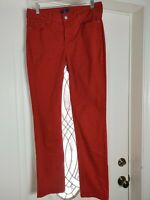 """Nydj Not Your Daughter Jeans Size 4 Red Pants 28"""" x 31"""" mid rise"""