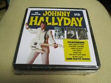 "COFFRET 3 CD NEUF ""JOHNNY HALLYDAY - THE ESSENTIAL"" 60 titres (BOITIER METAL)"