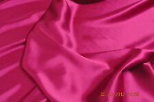 Pure silk crepe back satin, 19 momme, 114 cm, fuchsia, sold by half meter