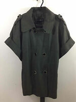 Marks and Spencer Autograph Double Breasted Ladies Coat Size UK 16 Black Mix