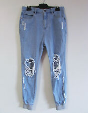 Thing Thing Mens Sz 30 Lt Blue Denim Ripped Distressed Drop Crotch Jogger Jeans