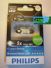 Philips X-treme Vision LED Interior Light Festoon C5W 38mm 4000K Bright White