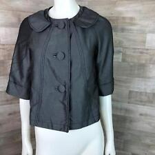 Ambition Women's Black Size Medium Blouse Big Button Swing Blazer Jacket