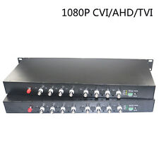 1080P HD CVI AHD TVI 8 Channel Video Fiber Optical Media Converters - For CCTV