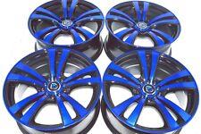 17 Drift blue Rims Wheels Avenger Corolla Prius V Matrix Fusion TC 5x100 5x114.3