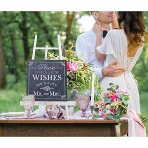 Wedding Sign Please Leave Your Wishes Guestbook Signature Reception Decoration