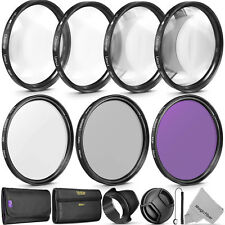 58MM Lens Filter & Close Up Macro Kit for Canon EOS Rebel T6i T5i T5 T4i T3i SL1