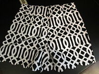 Black/White  Lattice Charlotte Shorts by Mud Pie, Size Extra Small (0-2), NWT