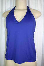 Shock Absorber Sz 34B Solid Blue Halter Tankini Swimsuit Top