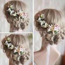 Wedding Bridal Flower Hair Clips Handmade Starfish Conch Hair Pin Headpiece